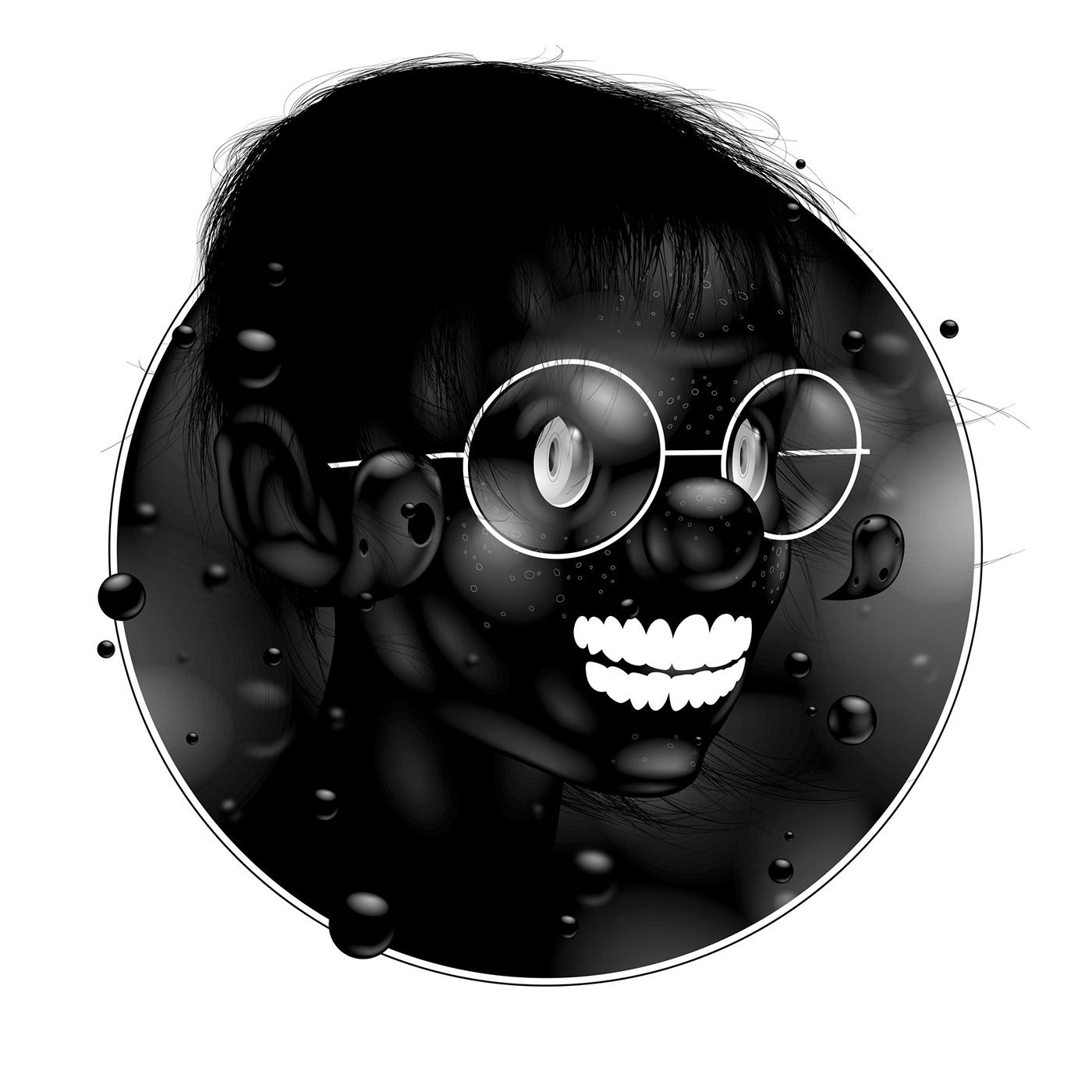Image may contain: cartoon, glasses and human face