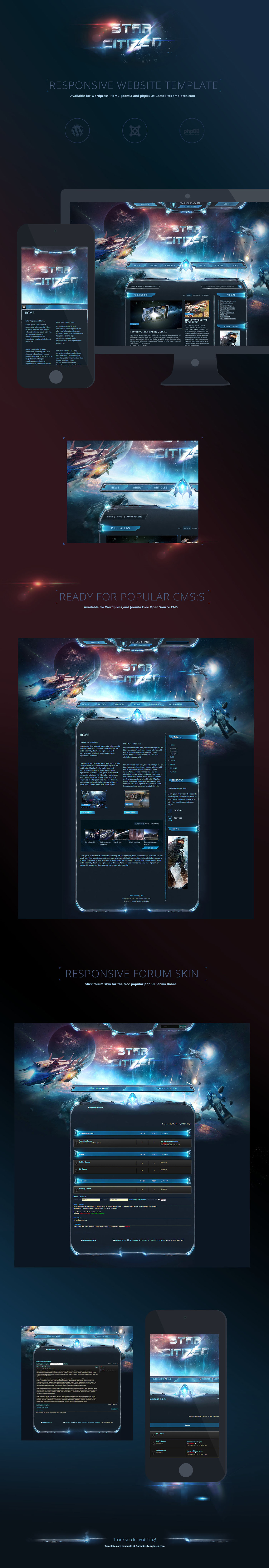 SciFi StarCitizen Game Template on Behance