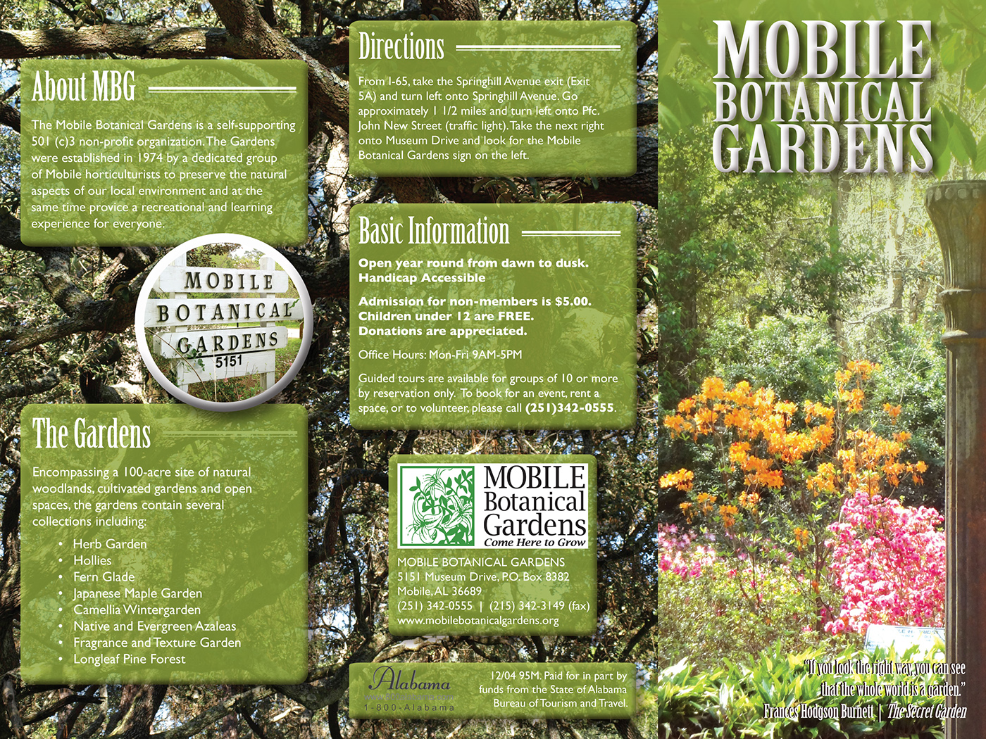 Mobile Botanical Gardens Brochure on Behance. Mobile Alabama Botanical Gardens. Home Design Ideas