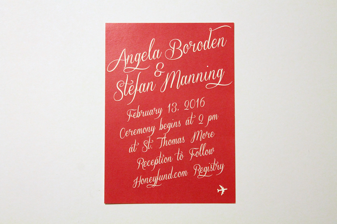 Wedding Stationery: Angela & Stefan on Behance