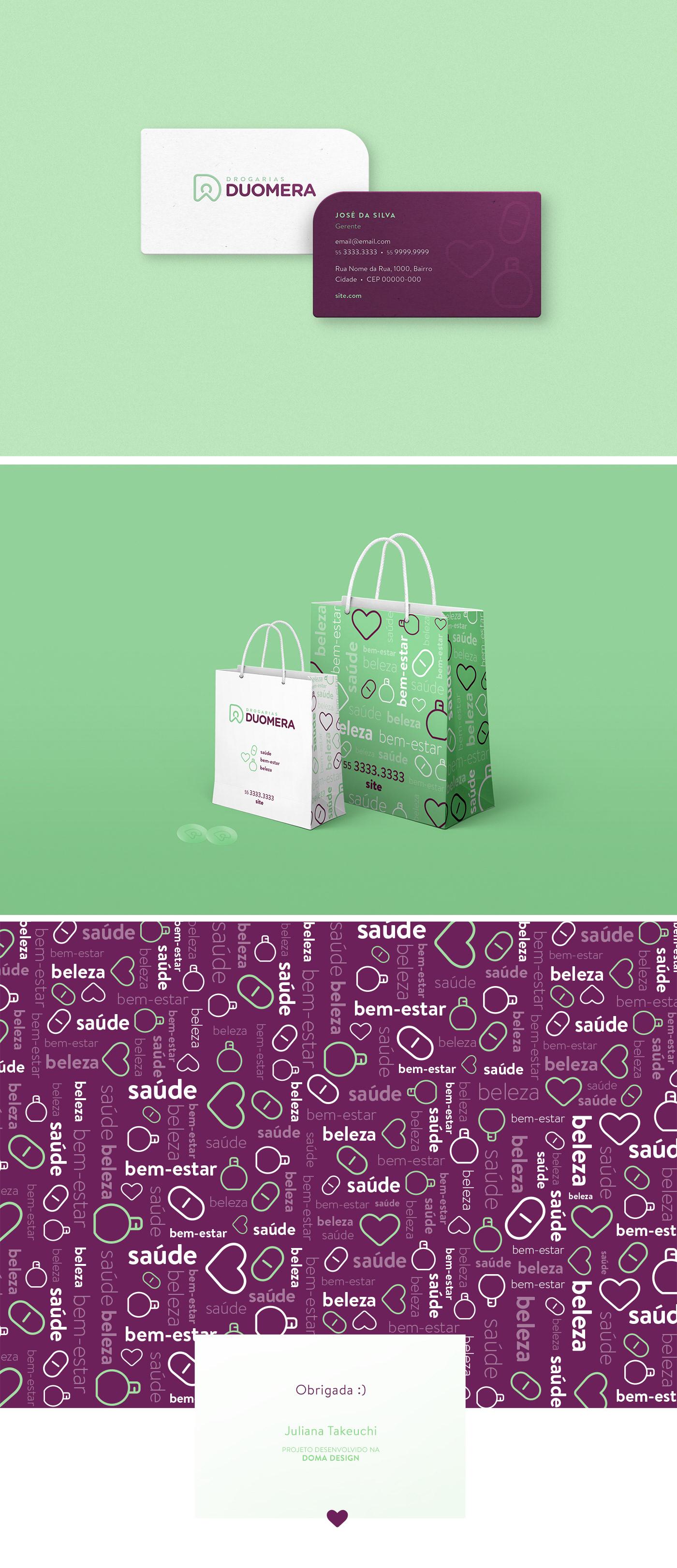 branding  identity pharmacy drugstore logo pattern modern beauty Icon visual