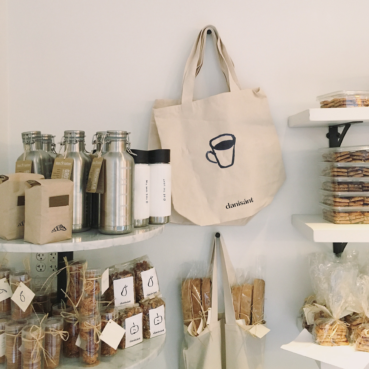 bag brand cafe Coffee girl identity ILLUSTRATION  jam light Sun