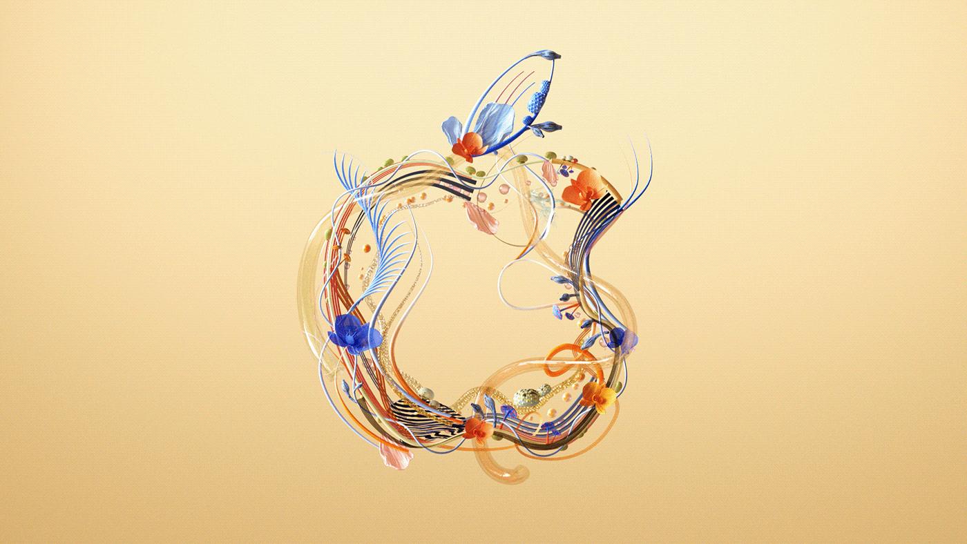 3dart,apple,ArtDirection,c4d,cinema4d,colorful,design,Fruit,fungus,logo