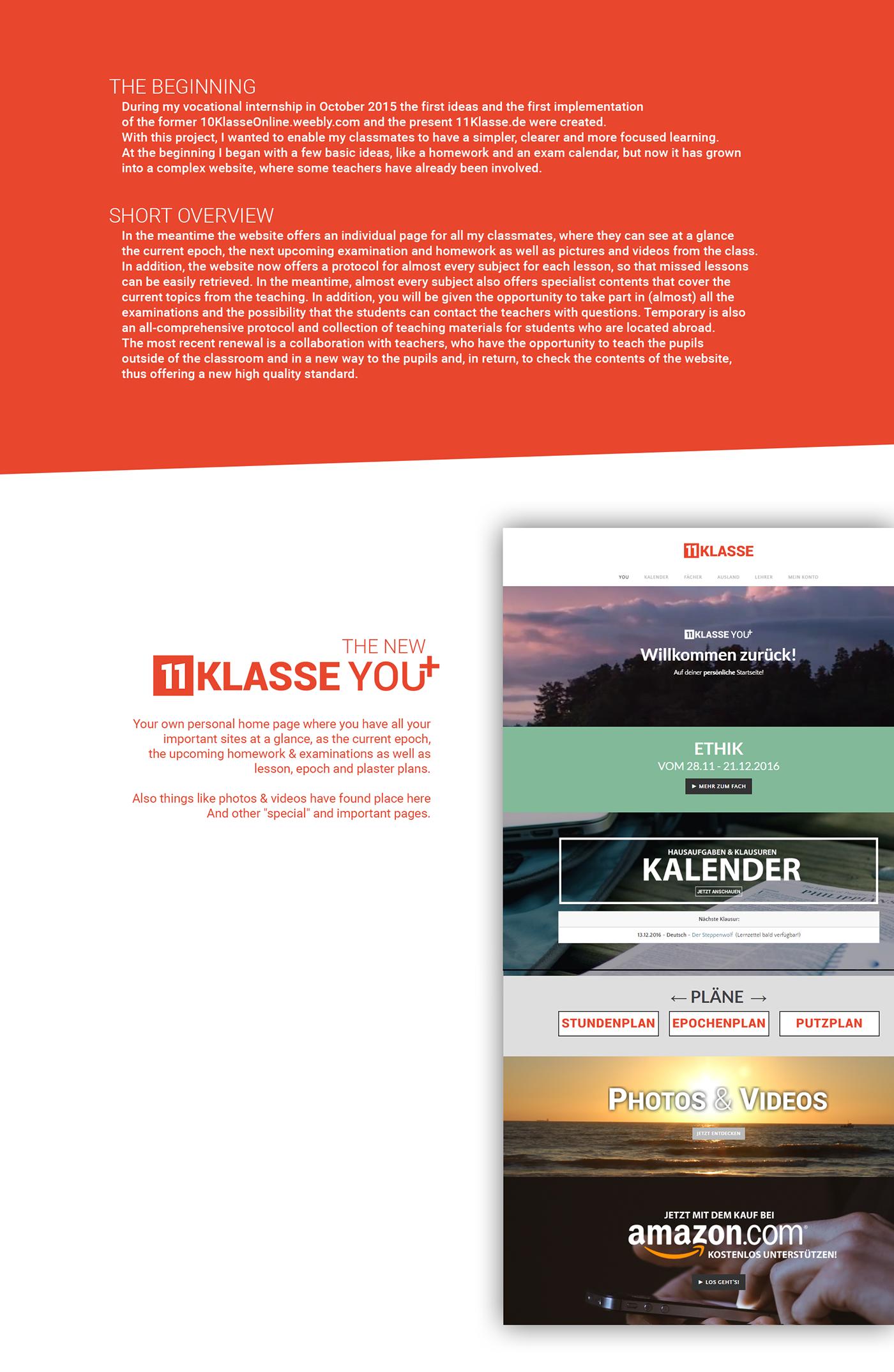 11Klasse.de - Your personal Student Portal on Behance