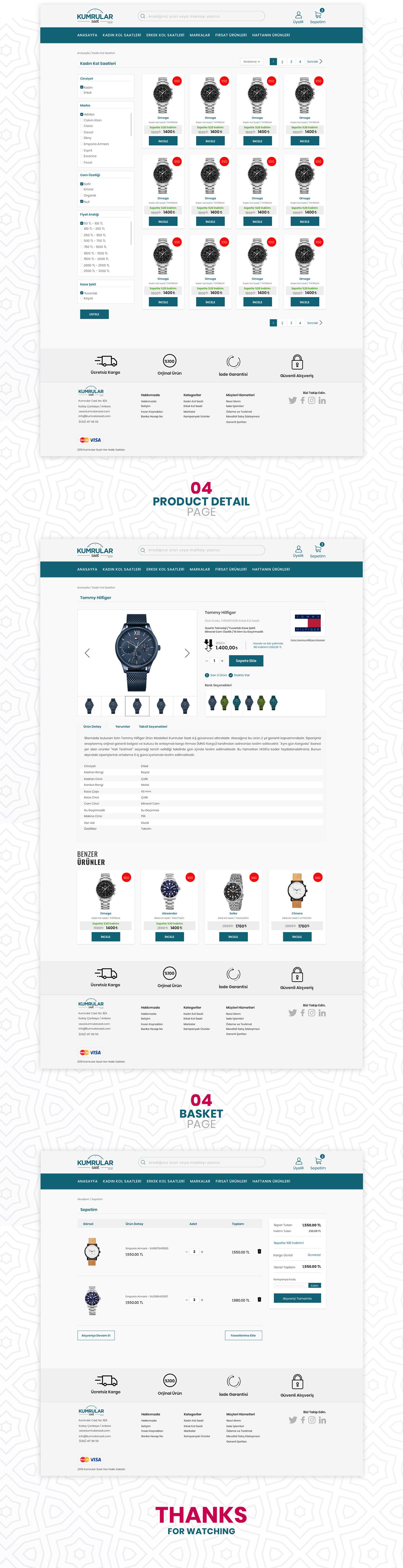 Web Design  web tasarım UI ux e-commerce