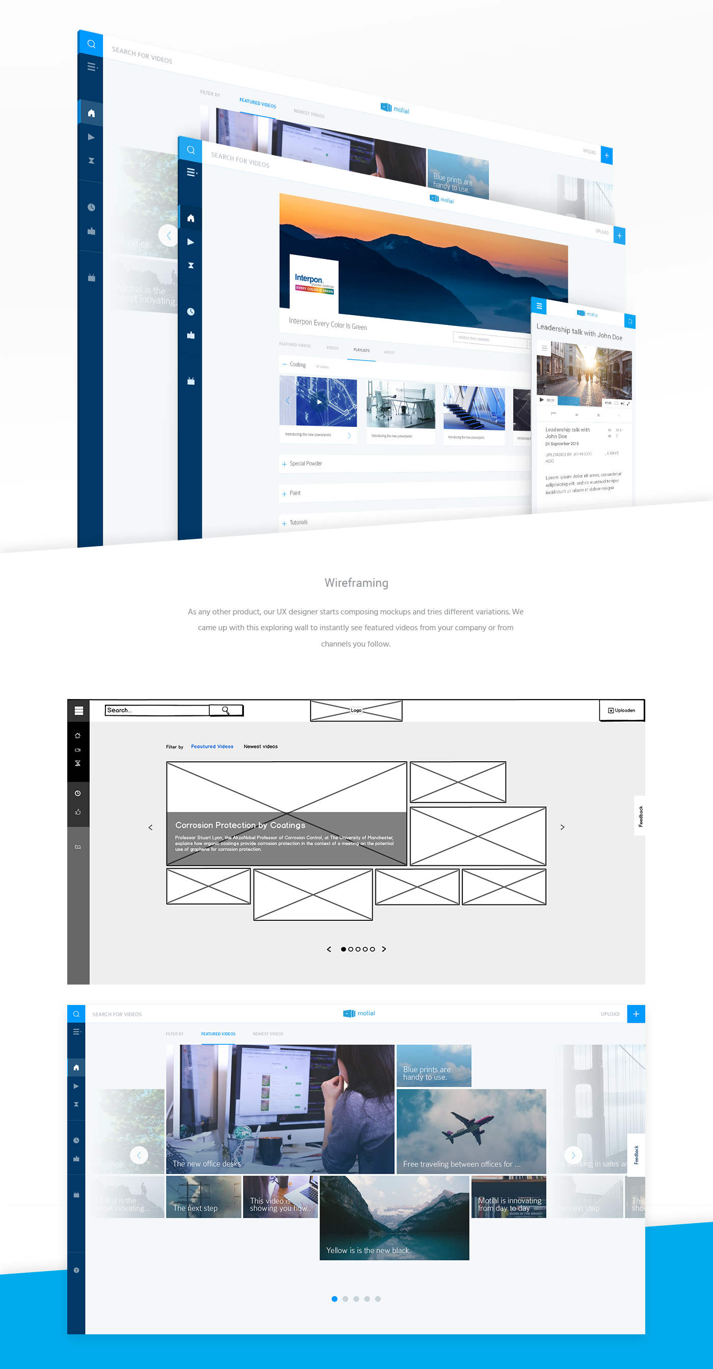 video sharing minimal blue social scalable Responsive internal businesses worldwide Trial vibrant cold fresh inspiration