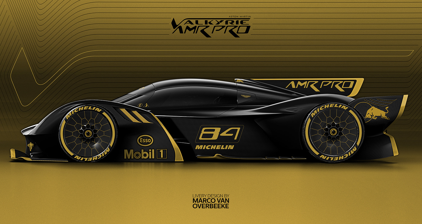 Aston Martin Valkyrie Amr Pro Livery Concepts On Behance