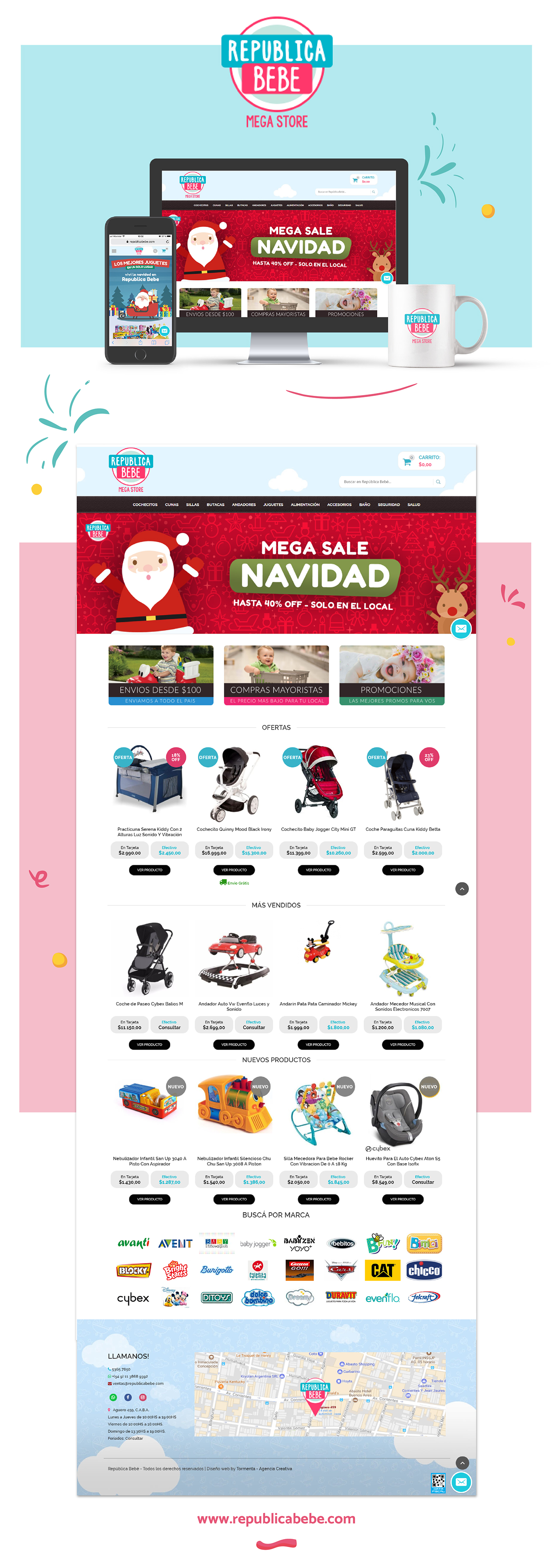 design Web Ecommerce baby typo Responsive ux diseño graphic shop