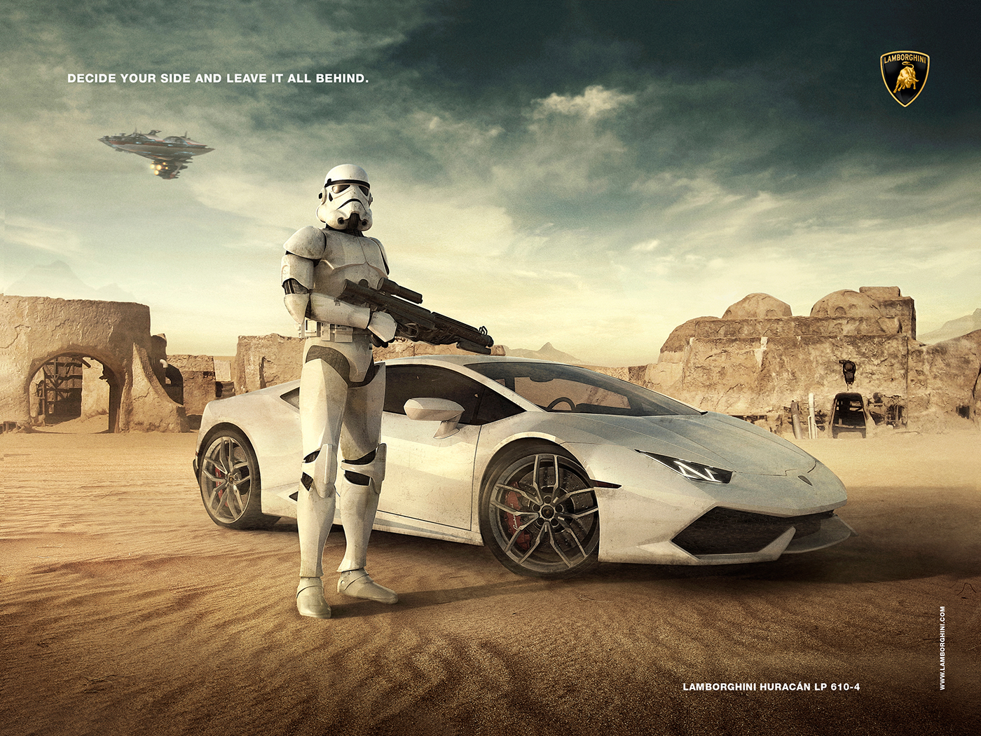 Lamborghini Advertising Stormtrooper On Behance