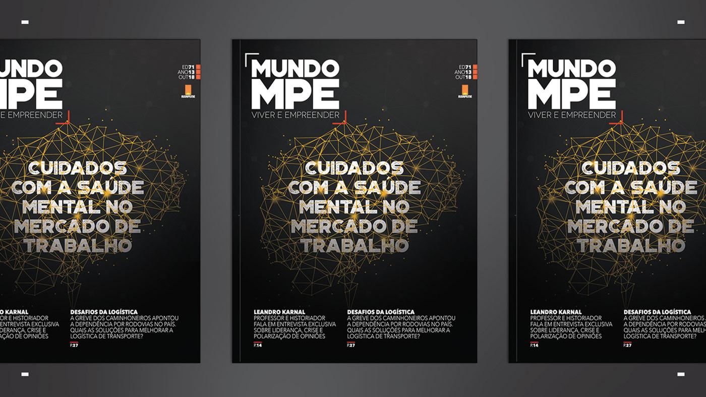 editorial projeto editorial revista magazine grid marca mpe  Layout Editorial Project branding