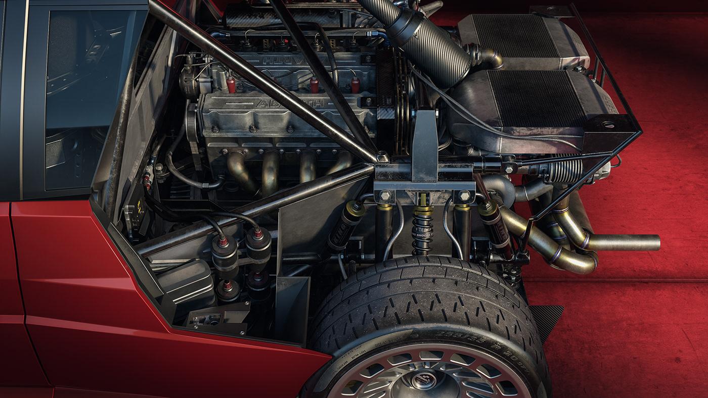 automotive   CGI Delta full3d groupb Lancia Racing UE4