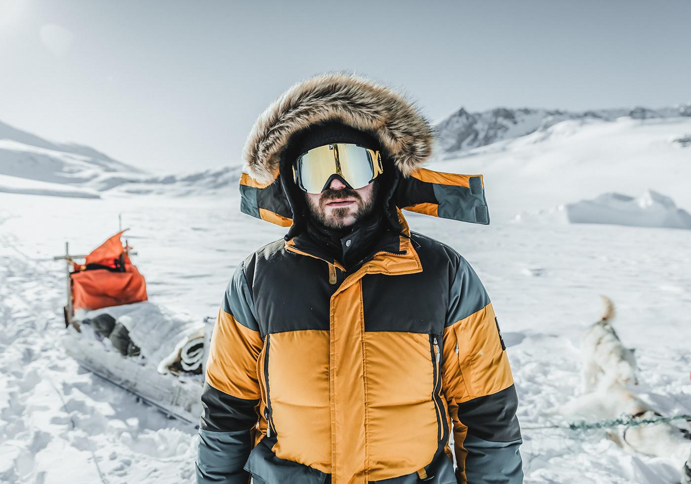 Greenland Arctic winter dogs snow remote ice White Nature Landscape