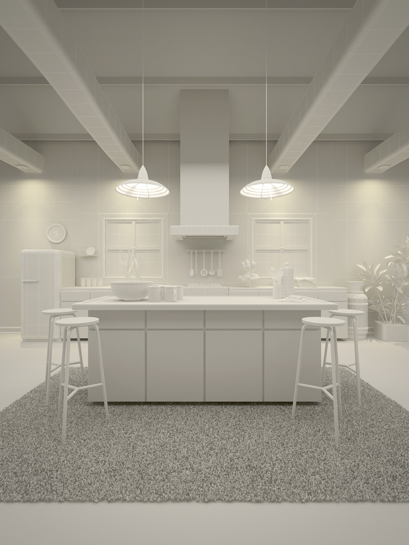 kitchen design visualizer kitchen visualization on behance 1400