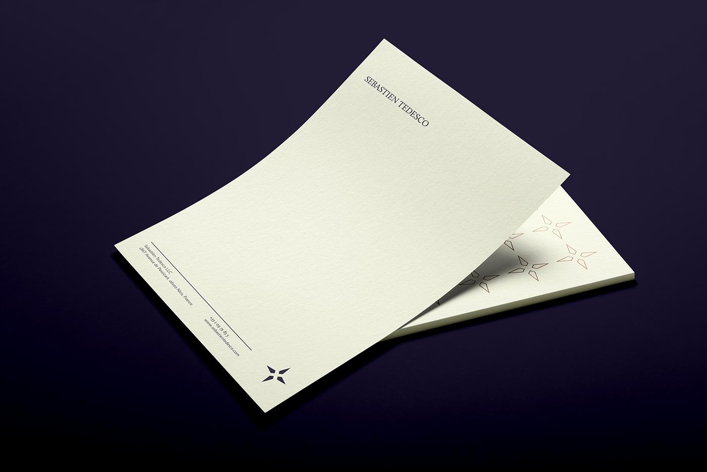 sebastien tedesco letterhead design