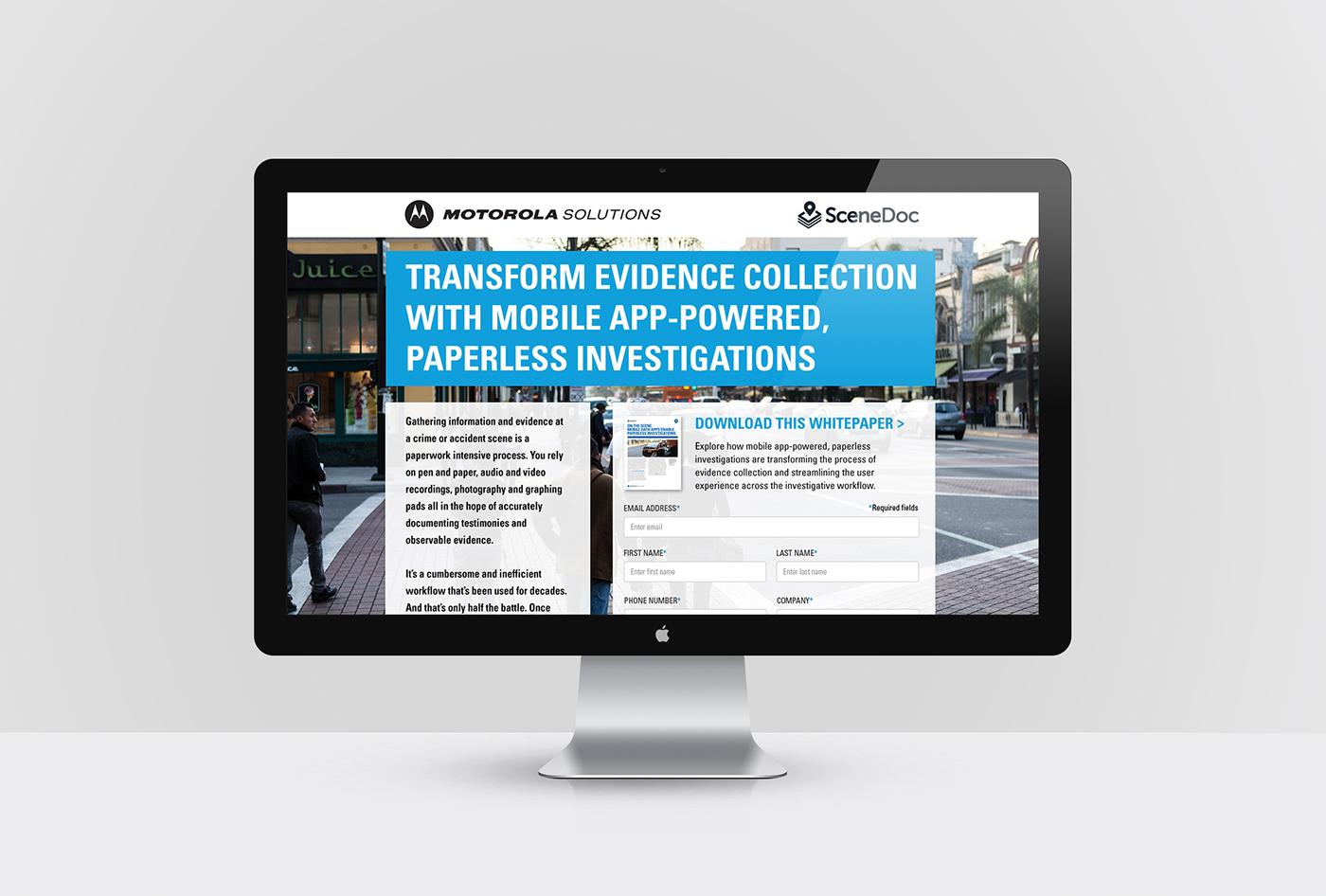 Motorola Landing Page on Behance