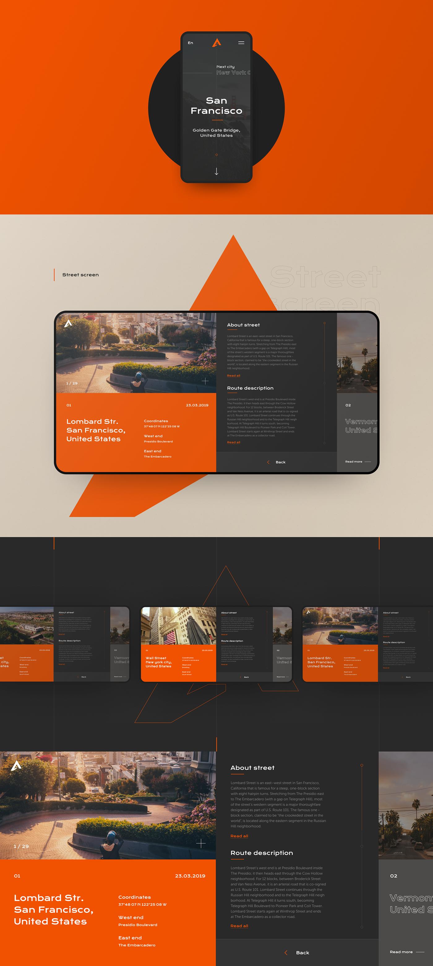 Website Web usa history ux UI minimal Interface Layout