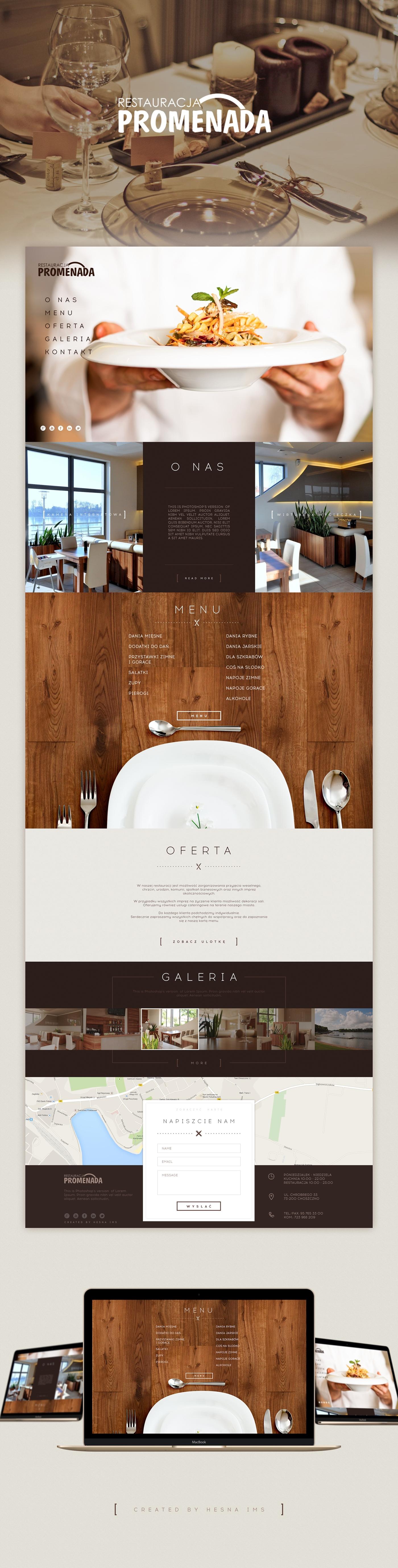 Website Webdesign restaurant