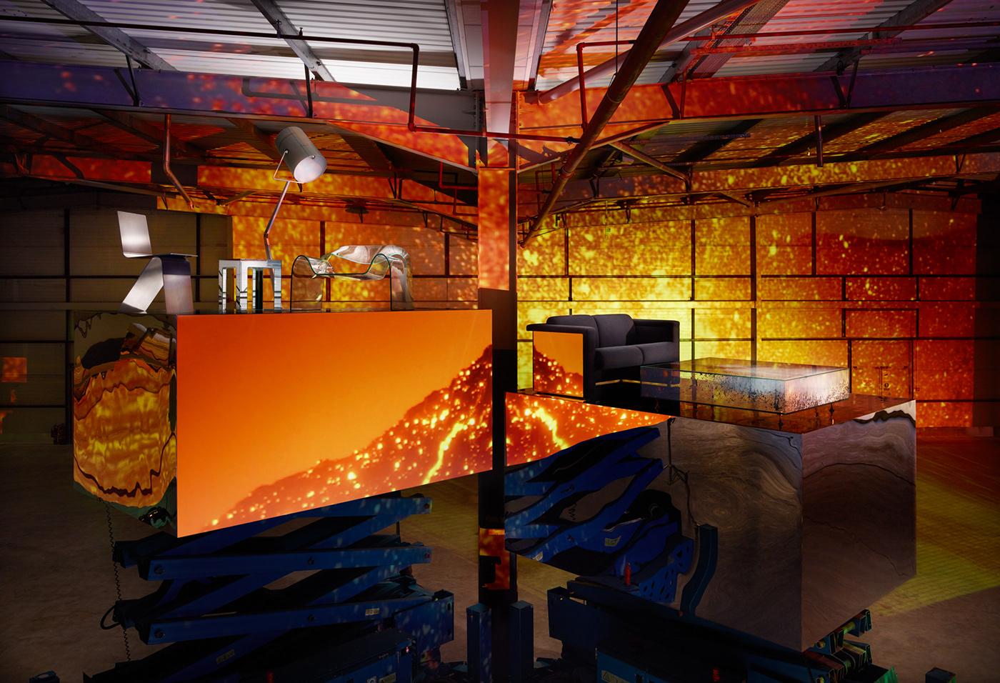 interiors abstract set studio futuristic editorial Space  Style design metal