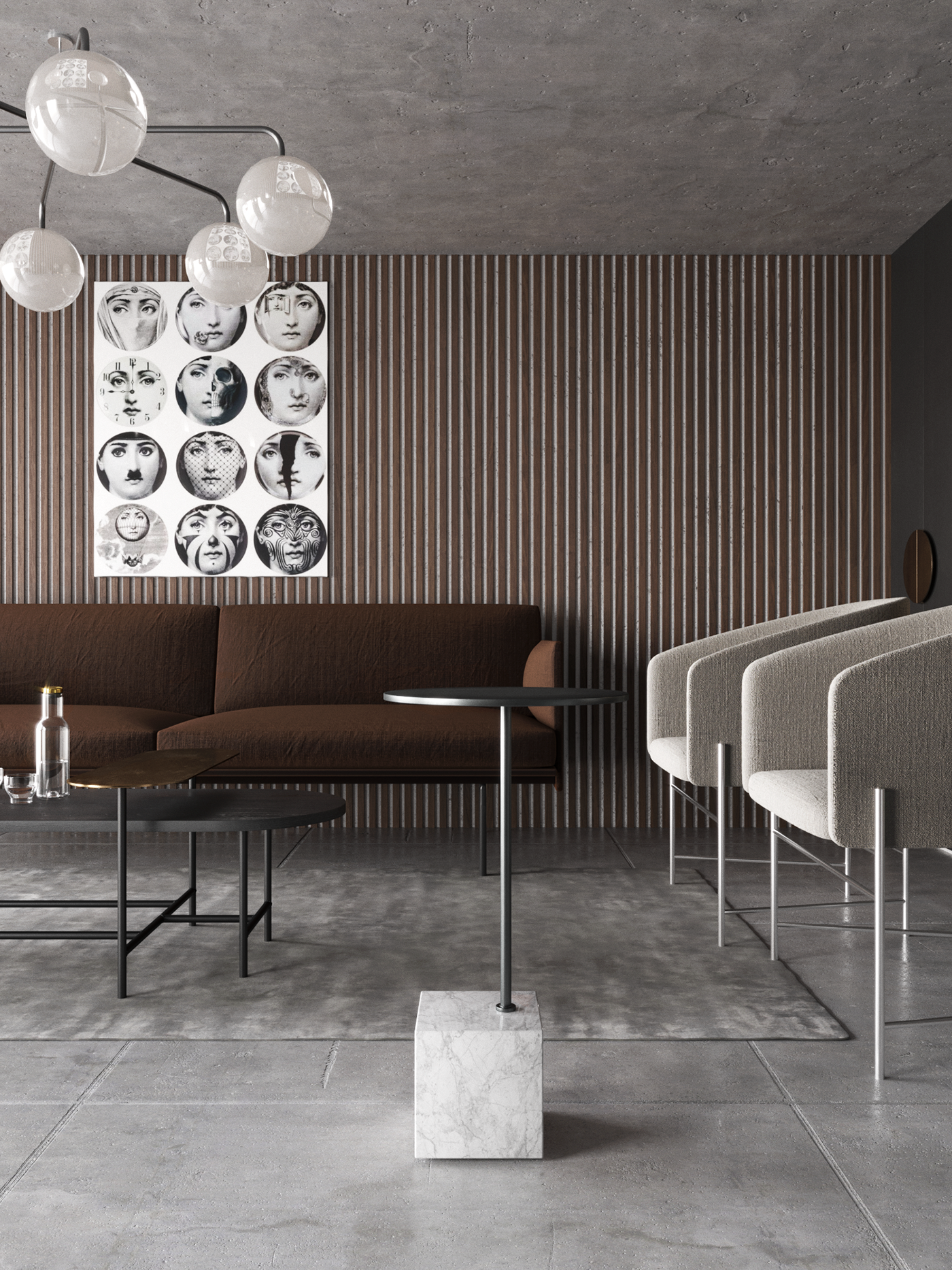 moder,corona,3dsmax,living room,kitchen,interior design ,nika buzko