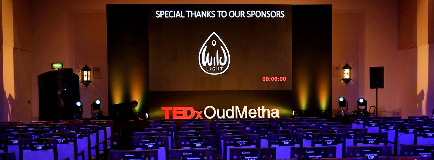 branding  graphic design  TEDx art direction  conference dubai Exponential Impact Logo Design TED Talks United Arab Emirates