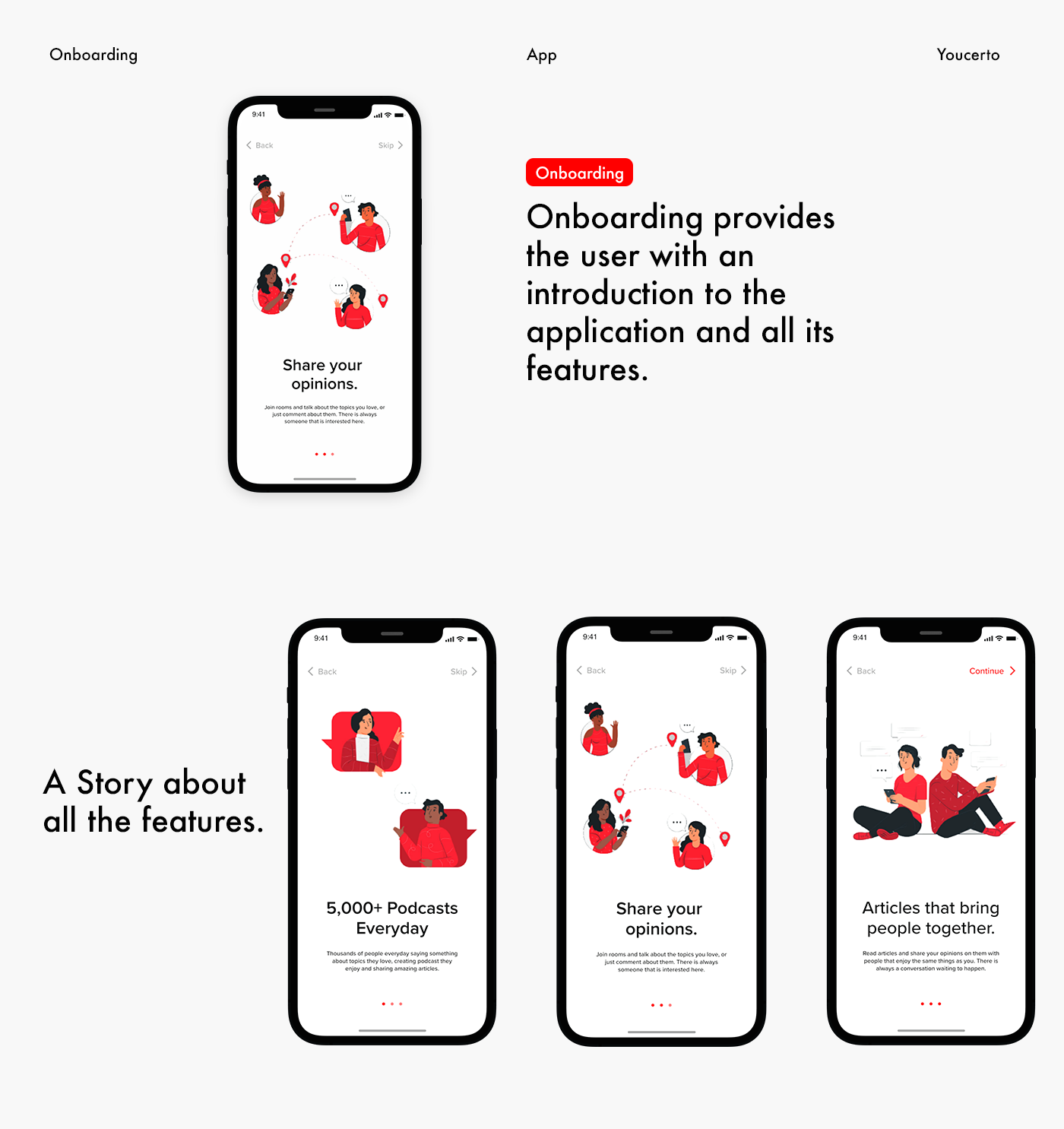 Adobe XD app application iphone Mobile app podcast podcasting UI/UX user experiece user interface