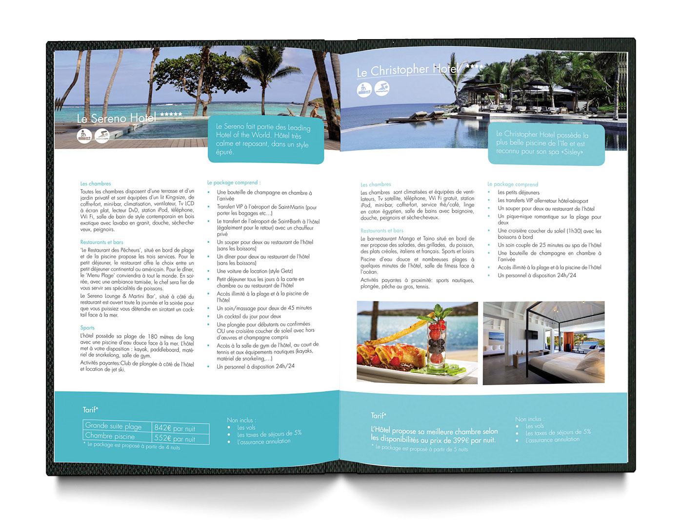 brochure voyage de noces on behance. Black Bedroom Furniture Sets. Home Design Ideas