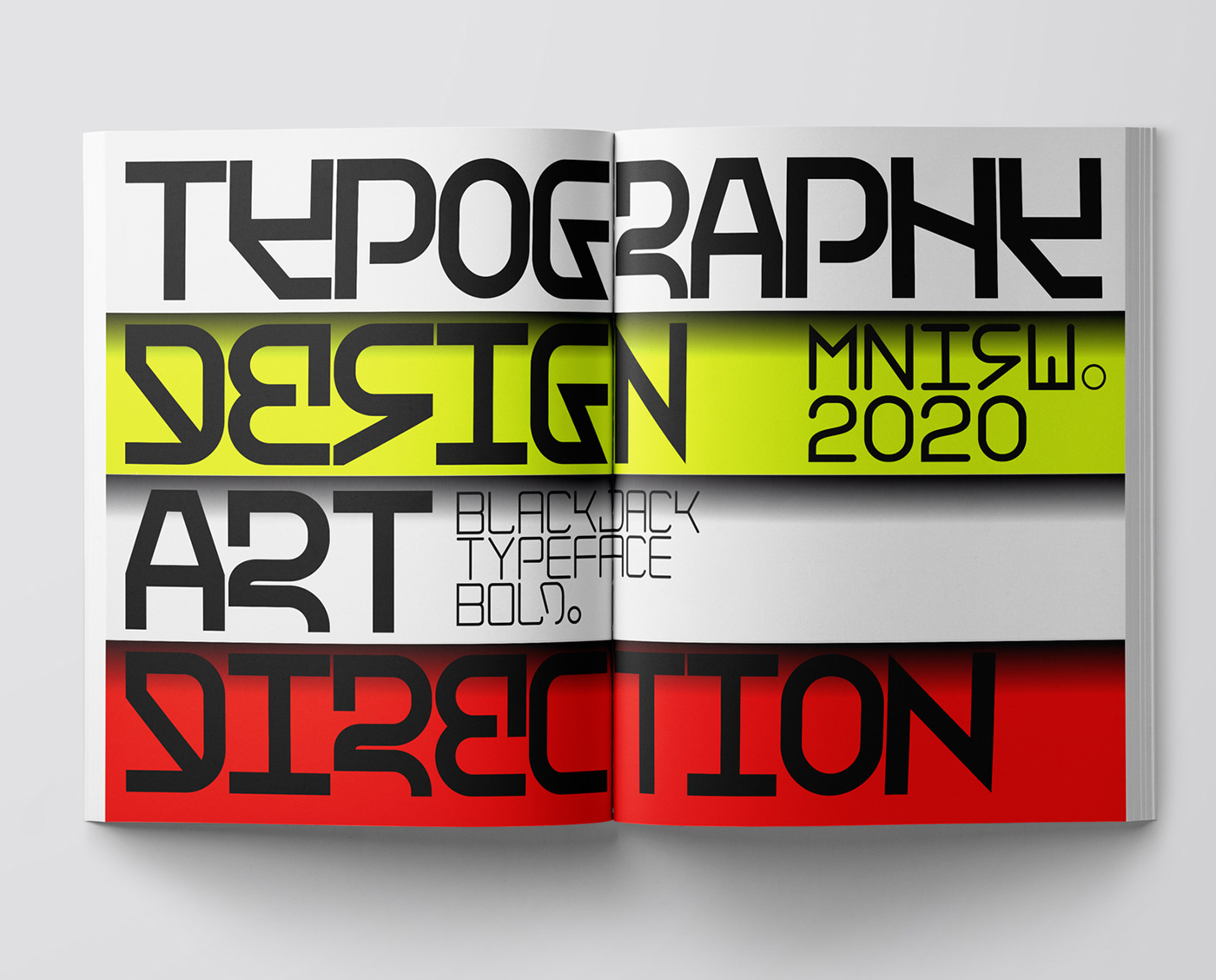 Creation of typeface for the art catalogue