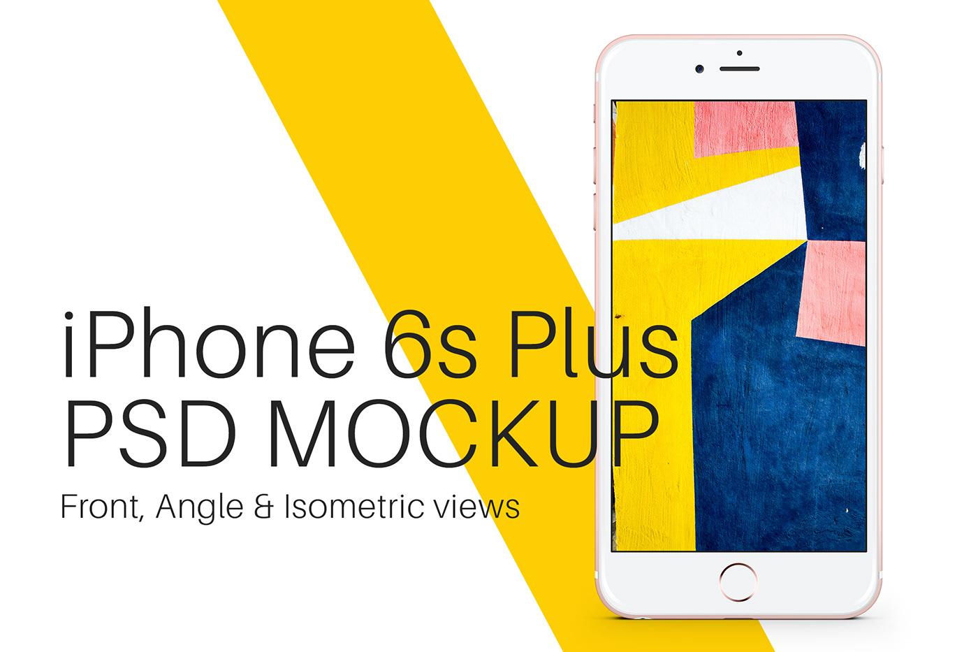 phone psd Mockup template iphone 6s iPhone 6s plus apple screen