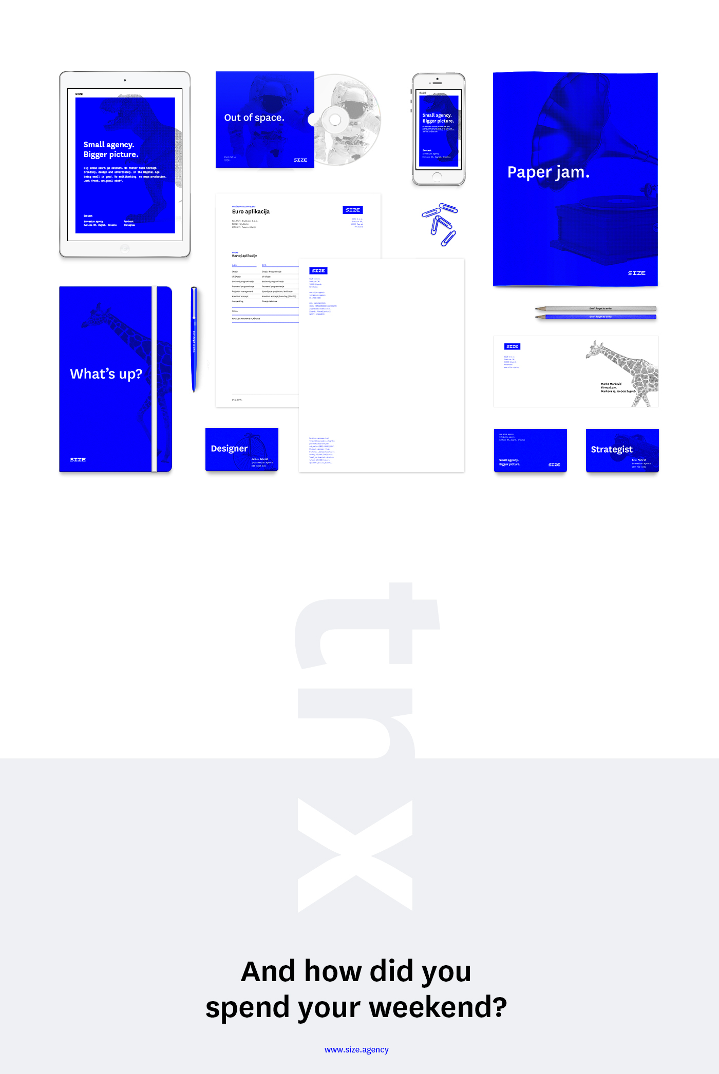 size size.agency agency small agency Bigger picture small bigger pictture #0000ff blue raster pixelart grid Zagreb Croatia