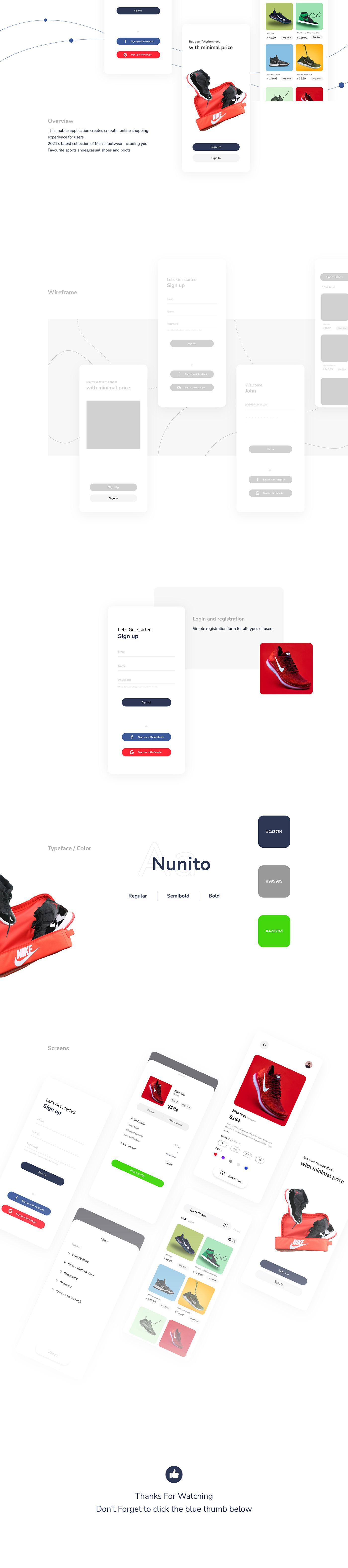 concept app E COMMERCE mobile interface product design  shoe Shoe App Shoe Store UI ux