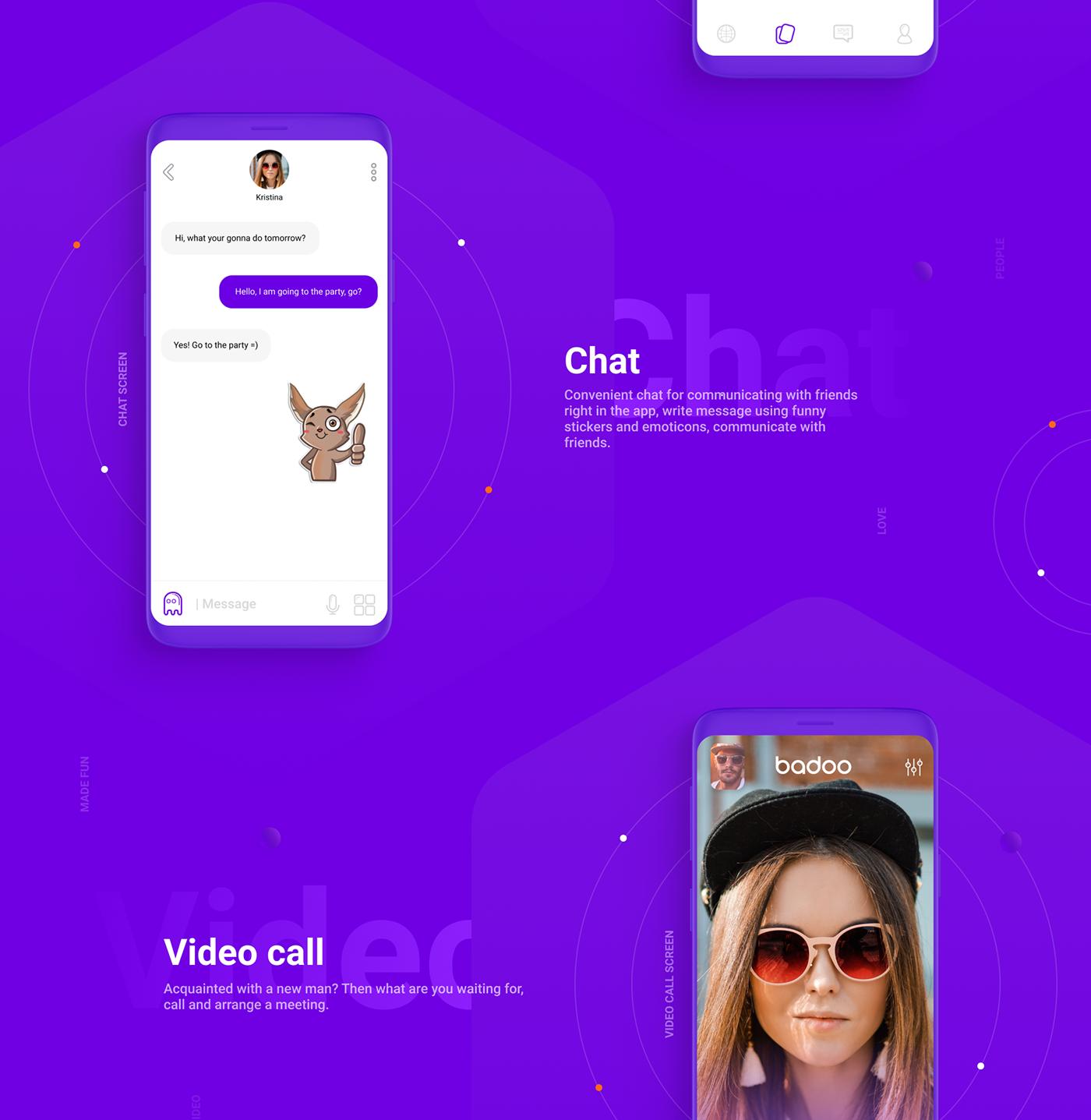 Badoo App Redesign - Freebies Vol.1 on Behance