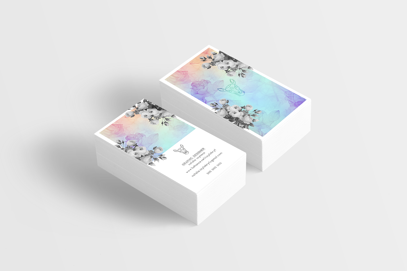 Holographic foil business cards images free business cards business card for graphic designer on behance this is my new business card its made with magicingreecefo Gallery