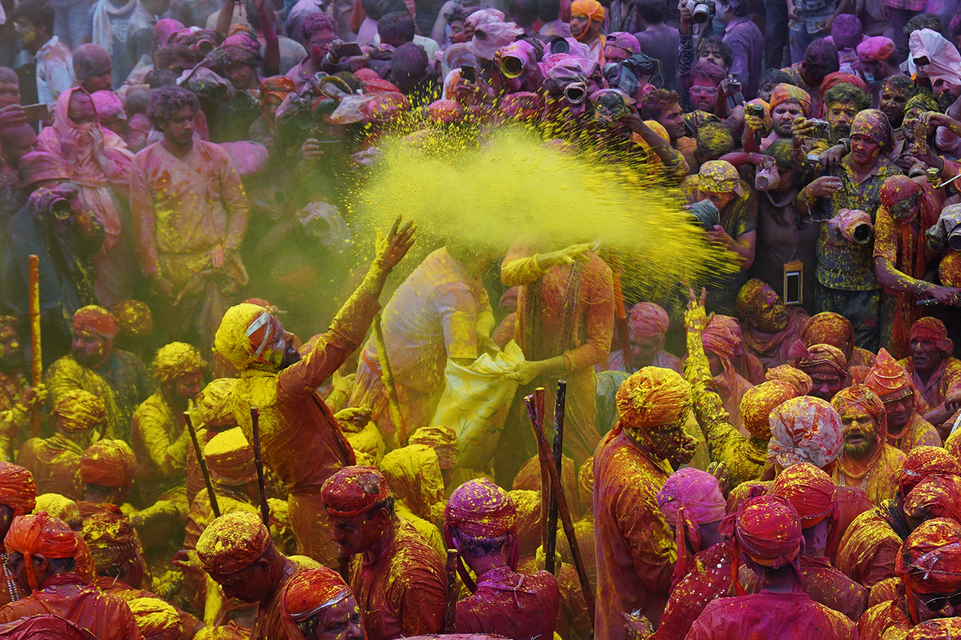 colours culture festivals holi India mathura holi people Travel