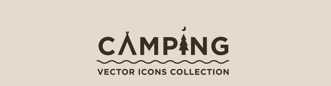 free,vector,icons,camping,Travel,outline,bold,forest,tent,axe,backpack,compass,deer,knife,Russia