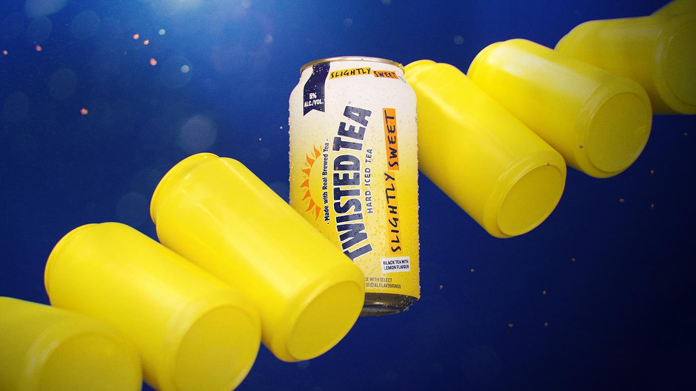 alcohol beverage cinema4d drink Mango motion graphics  octane Render styleframes Twisted Tea