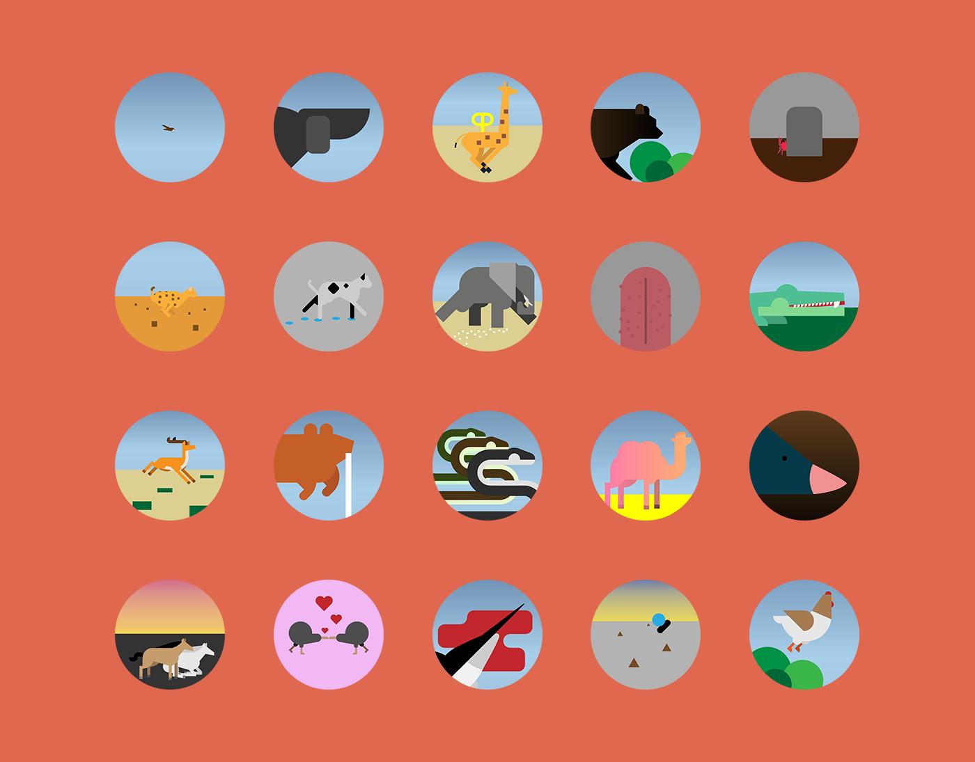 animals gps motion graphics  ux UI art direction  ILLUSTRATION  game gamedesign adobeawards