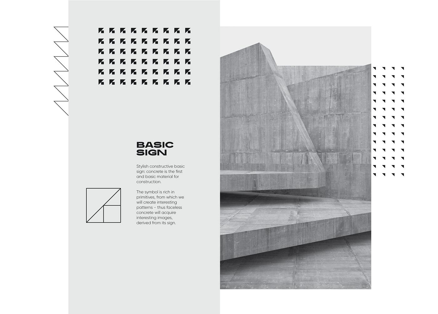 concrete construction identity yellow pattern animation  kovalska