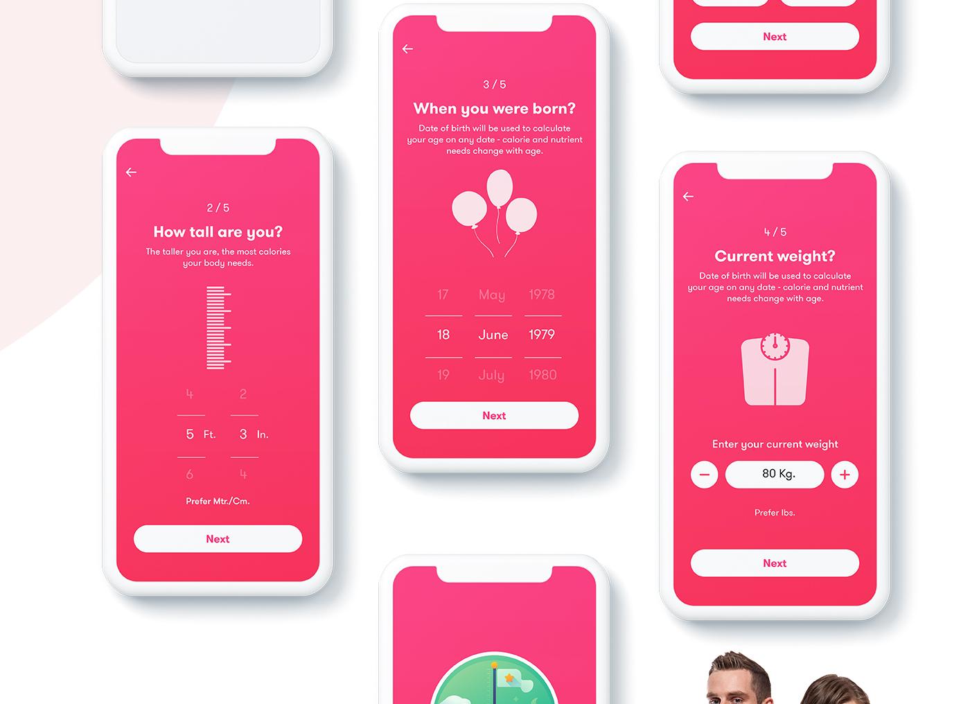 fitness app,Calorie Counter App,Mobile APP UI,App UI/UX,Latest APP UI,yoga app,exercise app,Health,UI/UX
