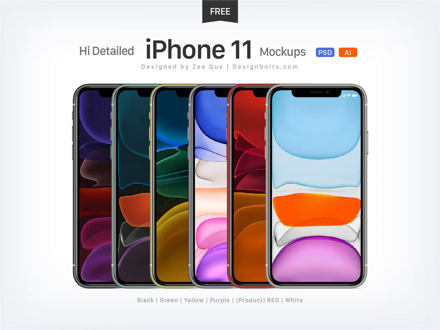 Free Apple iPhone 21 Mockup PSD & Ai on Behance