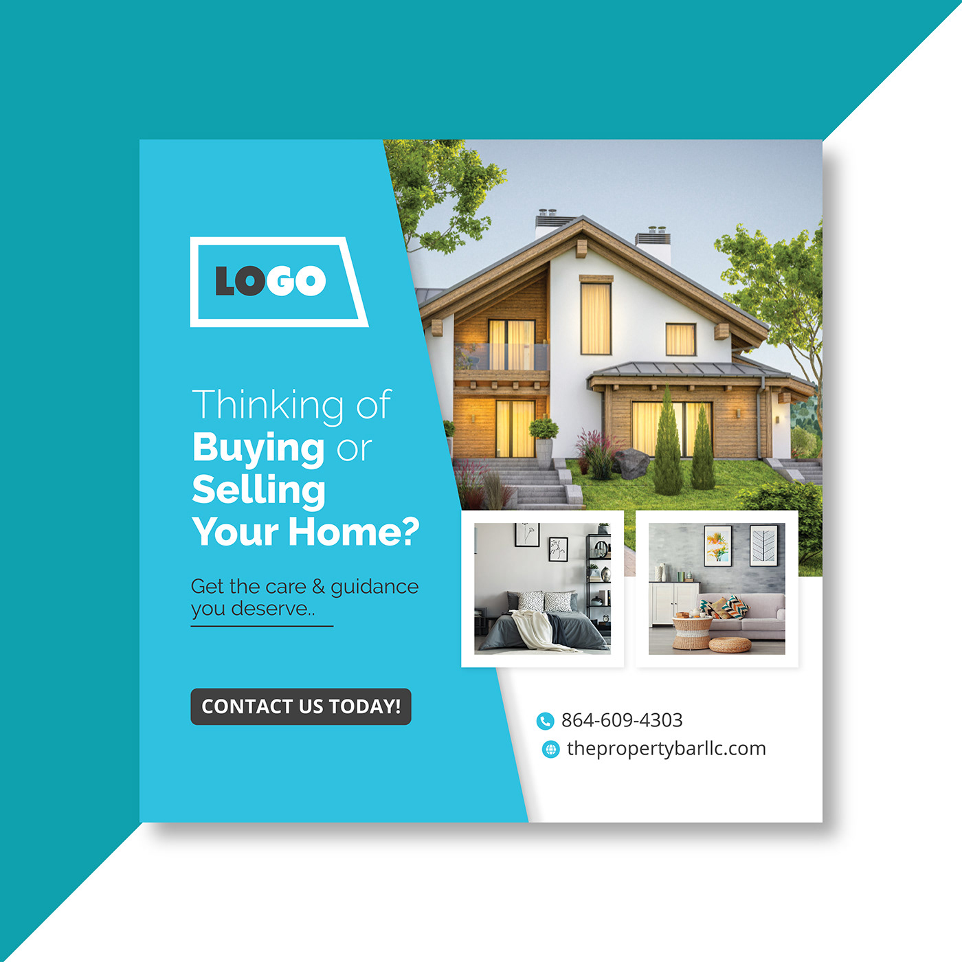 Real Estate Square Banner Ad Banners On Behance