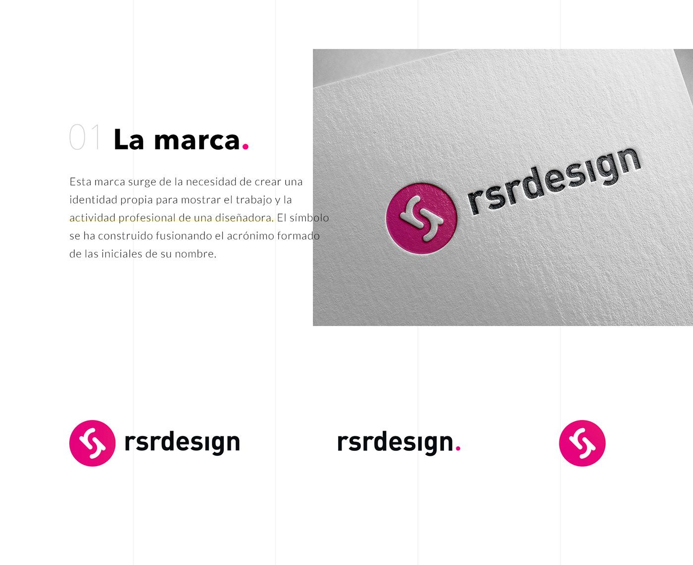 brand identity branding  logo Logo Design RSRDESIGN diseño de identidad Identidad de marca Personal Brand personal logo Brand Design