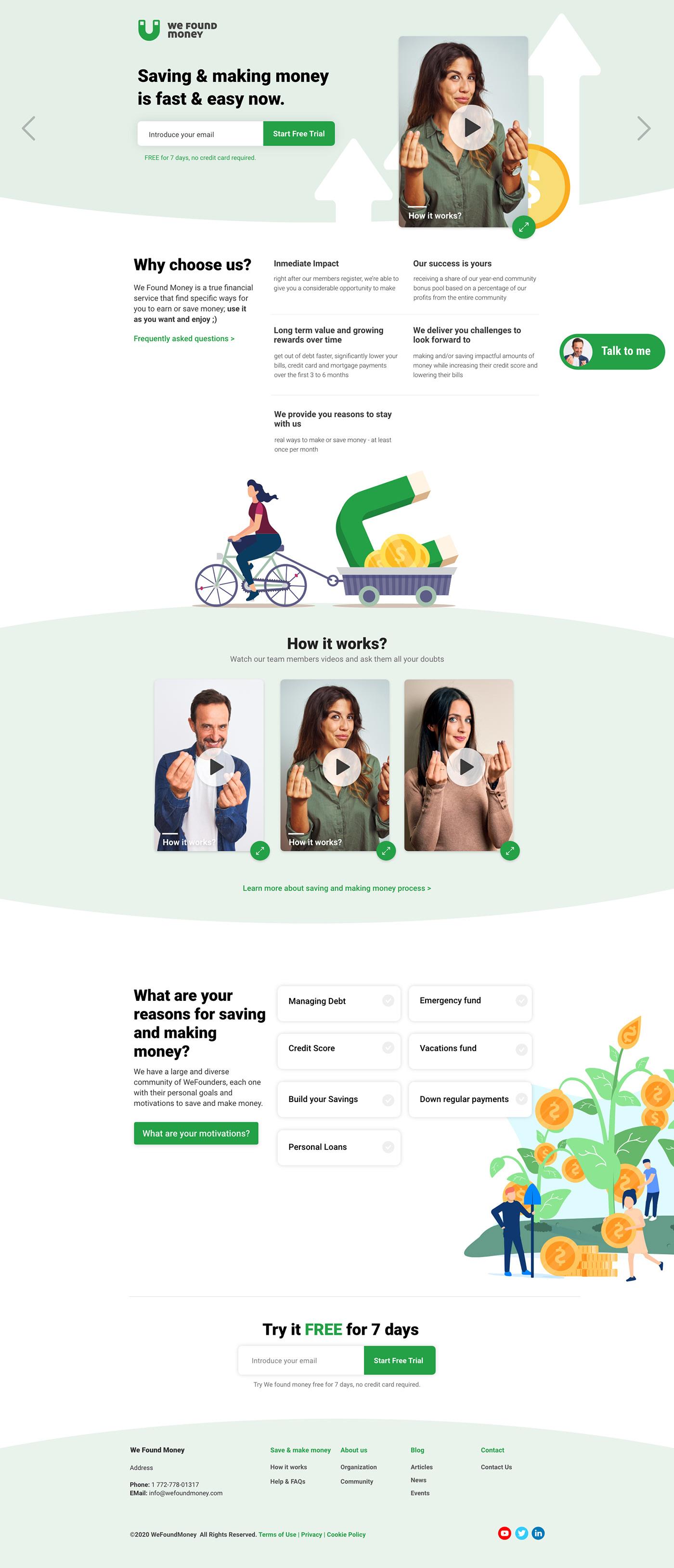 landing page Logotype Web Design