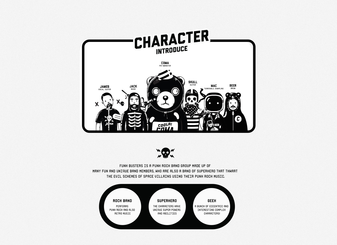 ILLUSTRATION  Character design motion toy