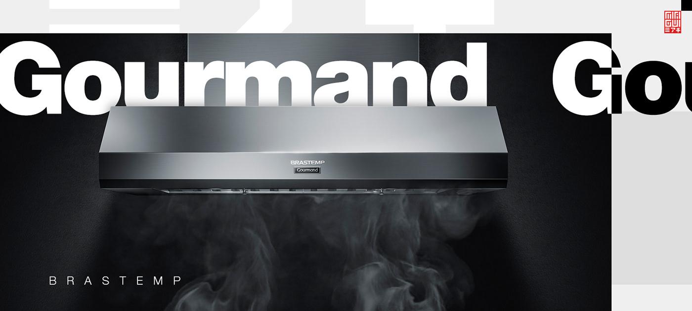 brastemp 3D animation  CGI Miagui Food  kitchen refrigerator oven cooker