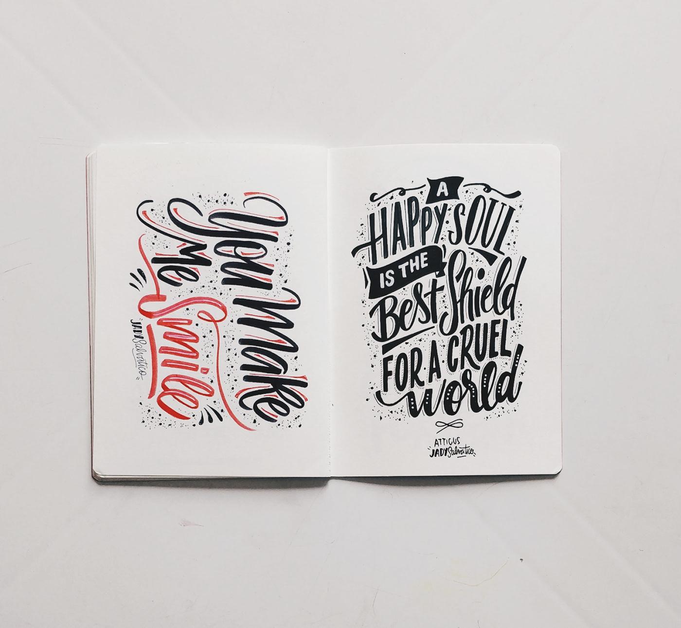 sketch sketchbook typography   lettering