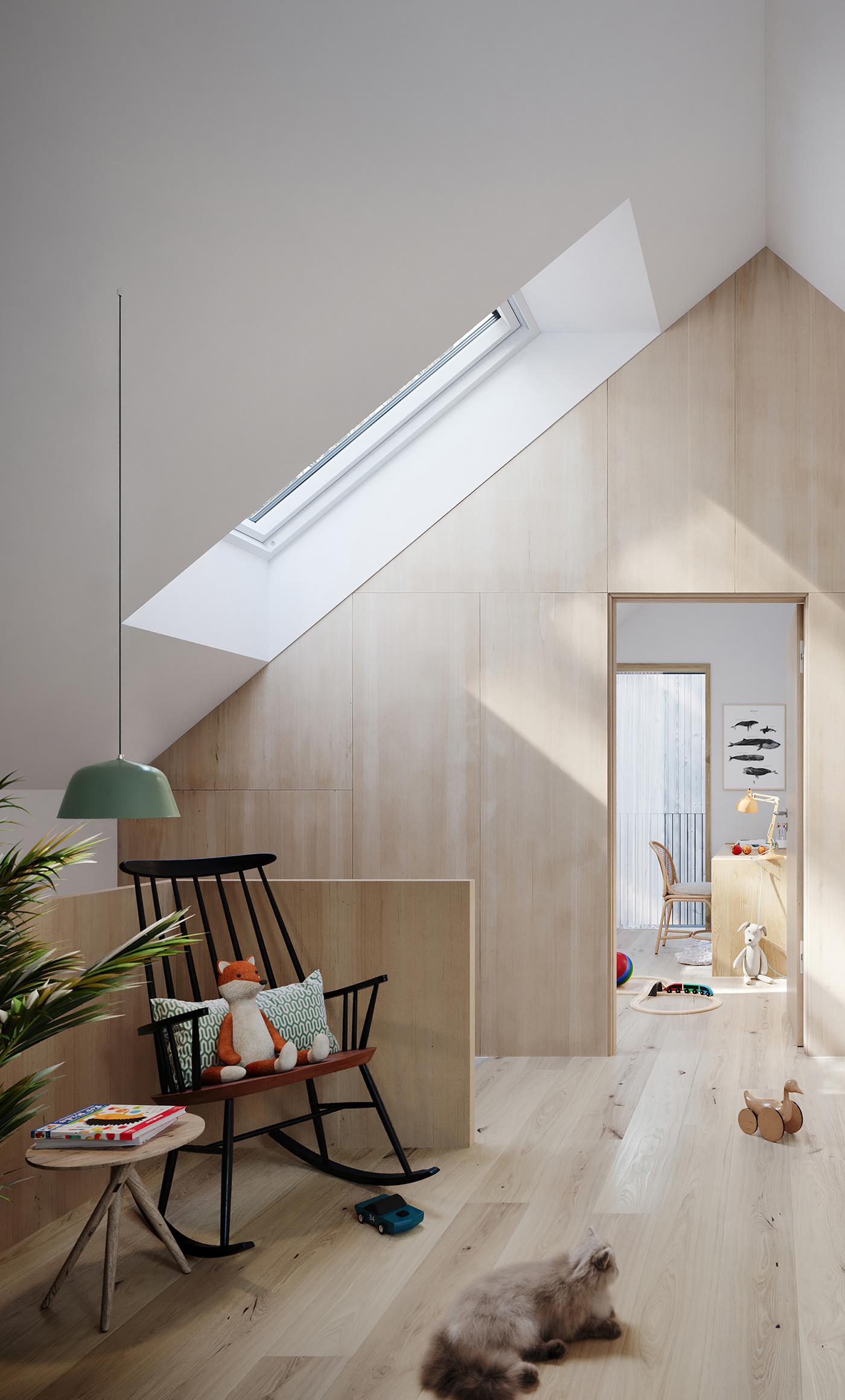 architecture design Interior CGI visualization coronarenderer 3D norway Scandinavia