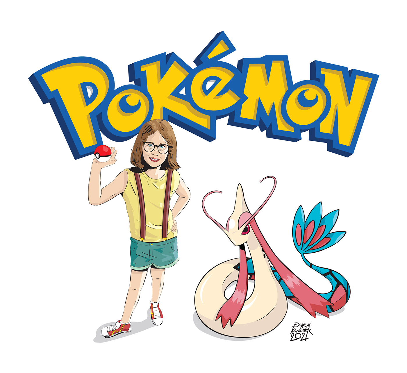 Character design  Christmas commission ILLUSTRATION  Pokemon