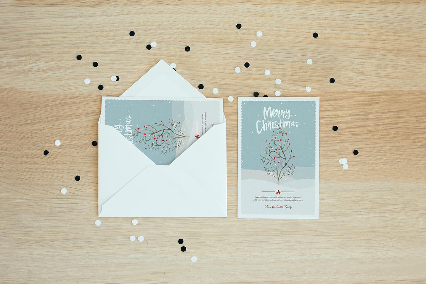 Christmas Greetings cards Merry Christmas photo cards postcards Happy Holidays flyers navidad postales navideñas new year eve