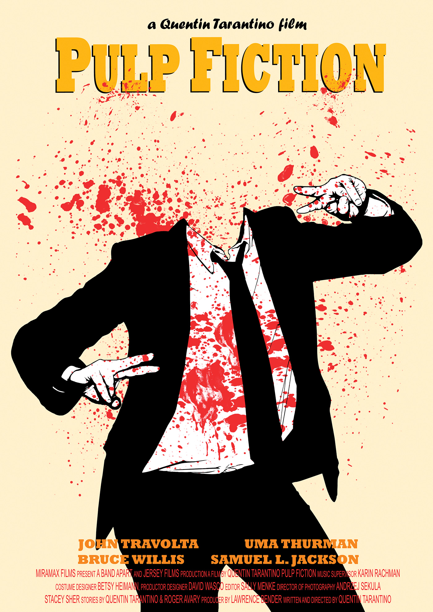 pulp fiction poster on behance