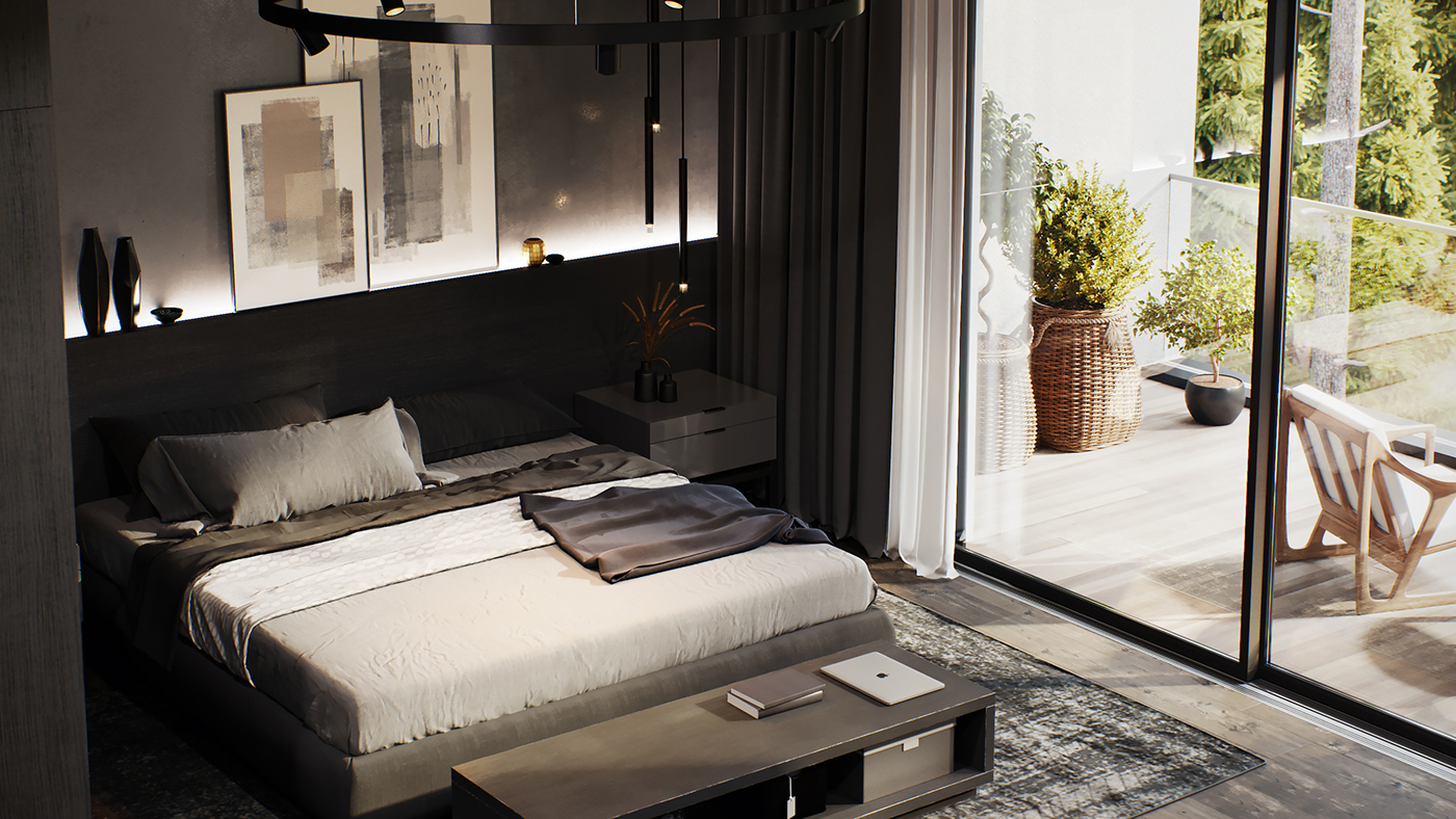 corona renderer 3ds max Render architecture design Interior apartment vacation home